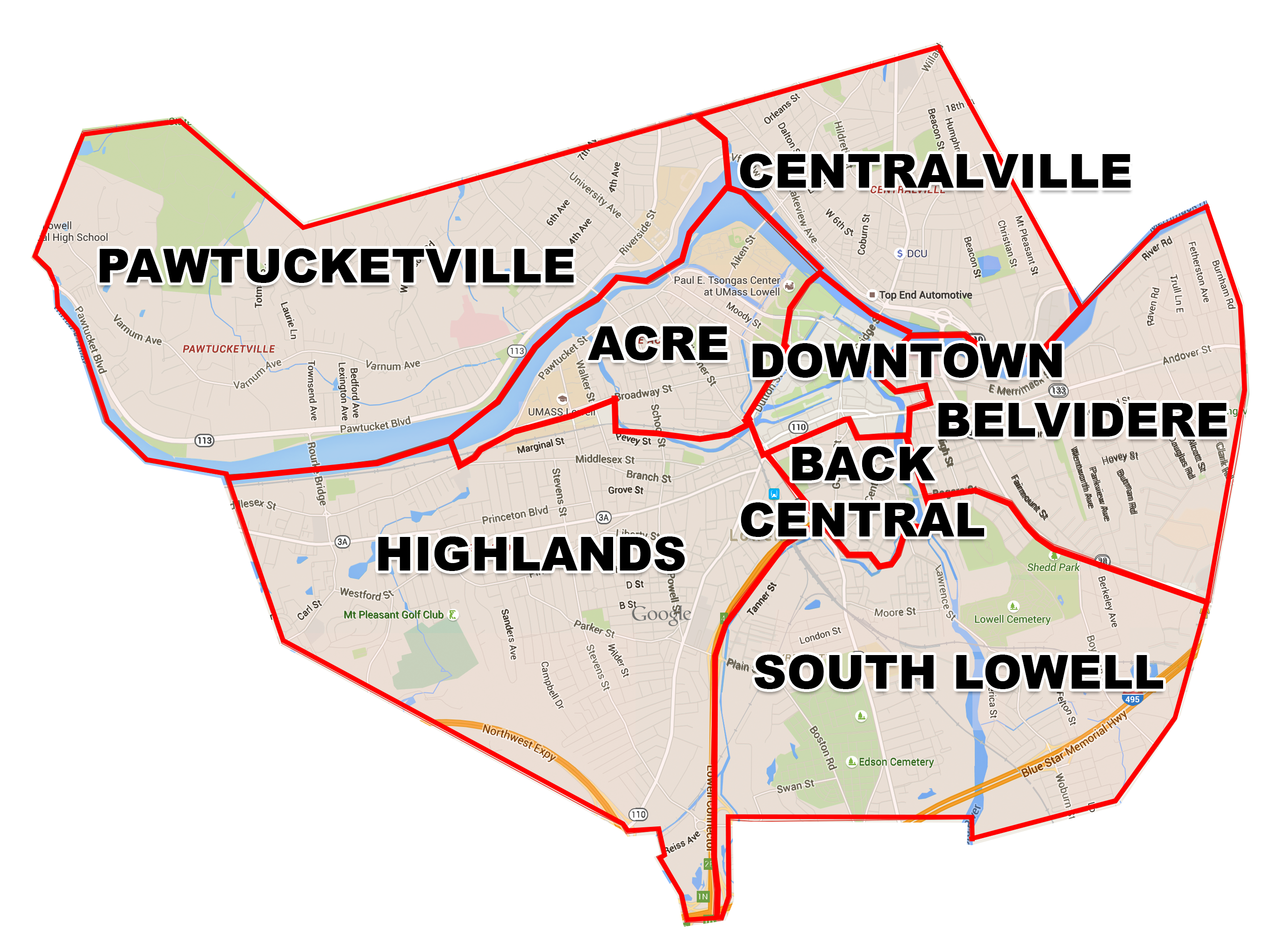 Lowell Neighborhoods